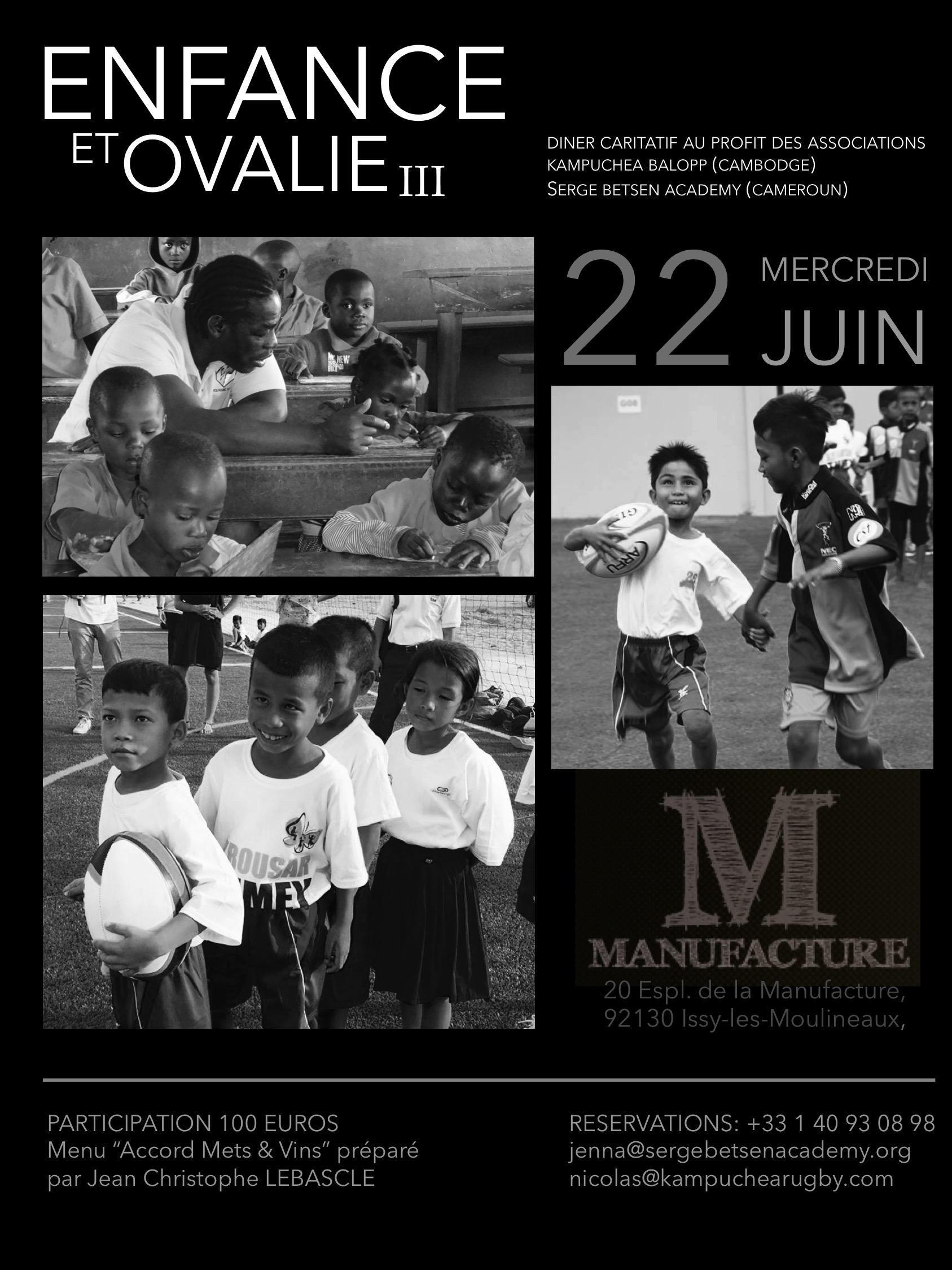 E-Invite Enfance & Ovalie - 22 Juin 2016 - PARIS a-