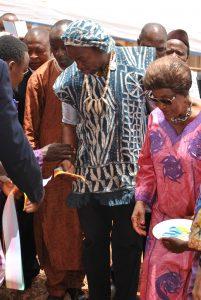 Inauguration en présence de Mme Niat, femme du Président du Sénat