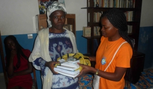Distribution school supply and school bags in Bafia