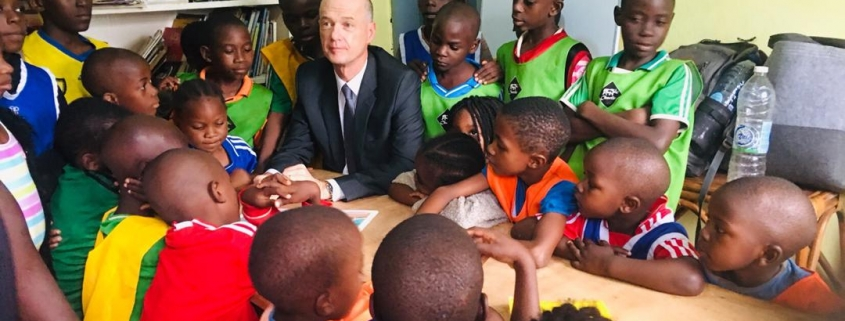 The Ambassador of France with our SBA children