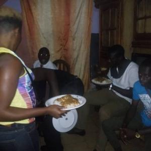 Christmas dinner in Etoudi