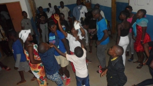 Christmas and New Year Party at the Bafia Center with light