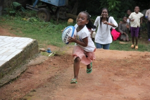 A girl from our Rugby For Kids programme