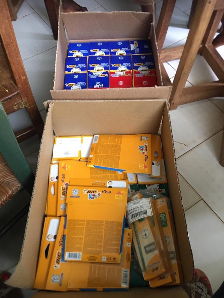 Des cartons BIC bien remplis