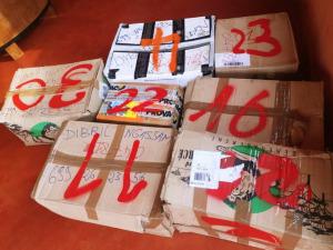 Cartons de matériel
