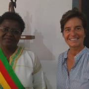 Maire de Bafia et Odile Prévot