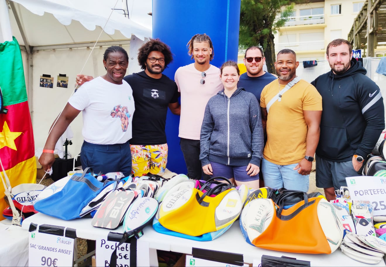 Serge Betsen and the SBA X Recycling Rugby volunteers