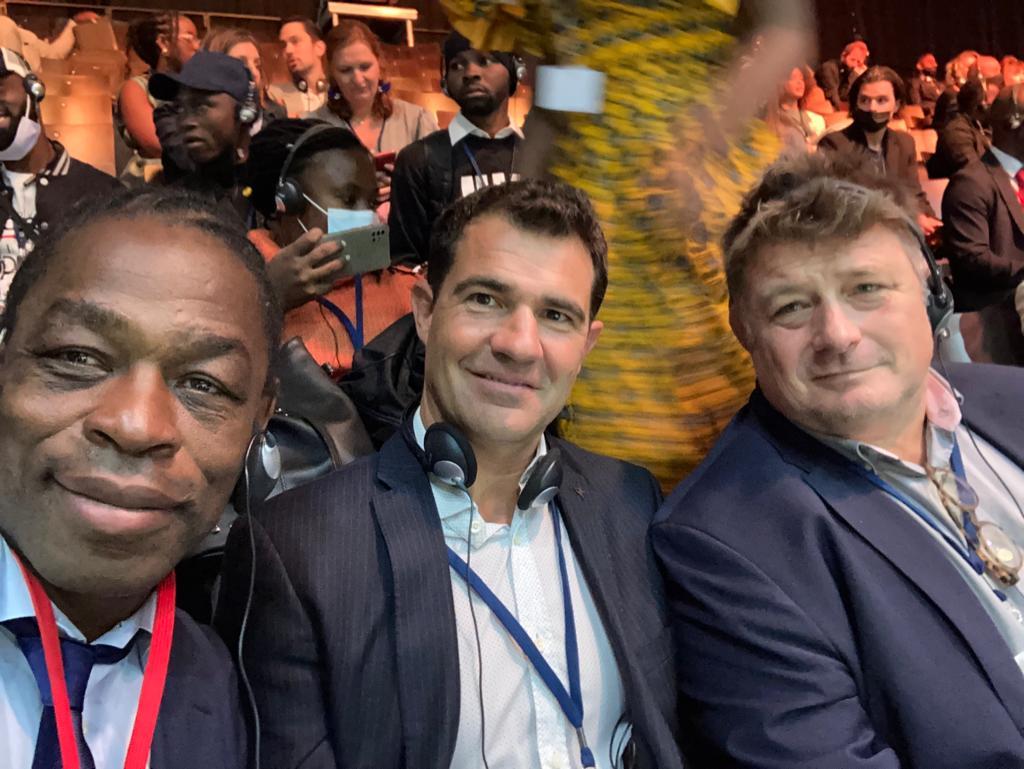 Serge Betsen, Sébastien Lovy et Didier Retière